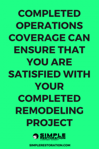 be satisfied with you completed remodeling project