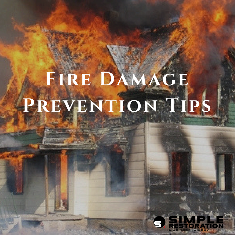 Tips to prevent fire damage