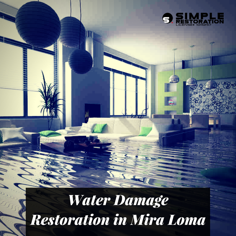 water damage restoration mira loma